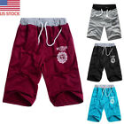 Summer Men Breathable Shorts Pants Sport Jogging Capri Pants Beach Wading Shorts