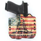OWB Kydex Holster for 50+ Hanguns with STREAMLIGHT TLR-4 DON'T TREAD SNAKE FLAG