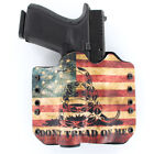 OWB Kydex Holster for 50+ Hanguns with SUREFIRE X300 - DON'T TREAD SNAKE FLAG