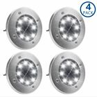 Solar Ground Lights,Garden Pathway Outdoor In-Ground Lights With 8 LEDs (4-PACK)