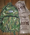 Bug Out Bag Backpack ESKY Nylex Brand - 4 Pocket Day Pack & two MRE's!