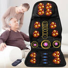 Heated back Massage Chair Cushion Car Seat Relieve Lumbar Neck Pain Massager TP