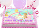 Little Twin Stars Rainbow Party Large Cake Decoration icing sheet Birthday
