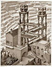 Escher 'Waterfall' - FINE ART PRINT Giclee Illusion Surreal 45x60cm Large