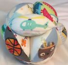 "Baby Ball Soft Gift Grasp Handmade 100% Cotton 7"" Diameter Many Designs & Colors"