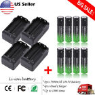 5800mAh 18650 Battery 3.7V Li-ion Rechargeable + Charger for Flashlight Headlamp