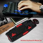 1600DPI Set Kit Keyboard Mouse Combo Gaming Wireless for Computer PC Laptop