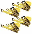 "Keeper 04629 25' x 2"" Ratchet Tie-Down with J-Hooks 4 Pack Tie Downs Straps Home"