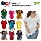 Womens Casual Scoop Collar Plus Size T Shirts Summer Tops Tee Allegrace (1X-4X)