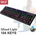 Gaming Keyboard LED Colorful Backlight Adjustable USB Wired PC laptop lot -BE