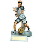 Shooting Star Tennis Trophy Male Player Resin Award - FREE Engraving Great Value