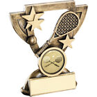 Squash Cup Star Trophy Racket & Ball Budget Award - FREE Engraving 2 sizes