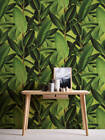 Modern Bold 3D Tropical Palm Leaf Wallpaper Green AS Creation 36201-1
