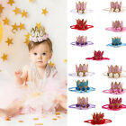 Cute Princess Baby Girl 1st Birthday Party Flower Crown Part