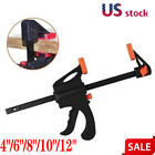 4/6/8/10/12Inch Wood Working F Clamp Grip Ratchet Release Squeeze DIY Tools Clip