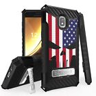 For Galaxy Amp Prime 3/J3 Orbit/J3 Aura/Sol3 Armor Hybrid Case Punisher Spartan
