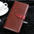 PU Leather Wallet Crocodile Cover Flip Magnetic Reptile Case For Vernee X Mix2