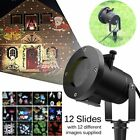 Outdoor Xmas Moving LED Laser Light Projector Landscape Garden Party 12 Patterns