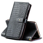 Retro Crocodile Flip PU Leather Wallet Case Cover Card Slot For Ulefone Phones