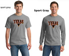 Texas Pride Longhorn Skull Lone Star State Mens Short Or Long Sleeve T-Shirt