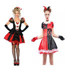 I-CURVES Womens Jester Fancy Dress Party Costume Queens of hearts 3 piece
