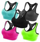 FITTIN Racerback Sports Bras - Padded High Impact Support For Yoga Gym Workout