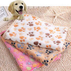 Nice Warm Pet Mat Small Paw Print Cat Dog Puppy Fleece Soft Blanket Bed Cushion