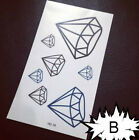Gold Waterproof Fashion Art Fake Body Temporary Tattoos Stickers Removable Kids