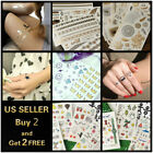 Внешний вид - Gold Waterproof Fashion Art Fake Body Temporary Tattoo Stickers Removable Kids