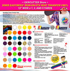 SISER EASYWEED IRON-ON HTV HEAT TRANSFER VINYL 12' WIDE x 1, 3, AND 5 YARDS