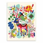 New Modest Style Alpaca Deer Horse Canvas Fabric Printings Wall Background Deco