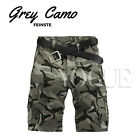 Military Mens Camo Cargo Shorts Camouflage Bermuda Work Army Loose Baggy Pants