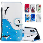 Cute Dog Pattern For iPhone X 8 7 6s Plus Wallet Stand Flip Leather Painted Case