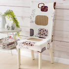 Removable Chair Cover Stretch Slipcovers Dining Room Stool Seat Printed Cover 02