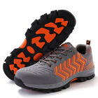 Fashion Mens Breathable Lace Up Safety Shoes Steel Toe Cap Work Boots Sneakers