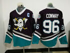Charlie Conway #96 Anaheim Mighty Ducks Movie Hockey Stitched Vintage NHL Jersey $30.15 USD on eBay