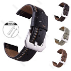 Quick Release Genuine Leathe Wristwatch Bands Strap 22mm For Fossil Q watch Band