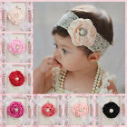 Kids Baby Girl Headwear Toddler Lace Pearl Flower Headband Hair Band Headwearyr