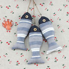 3 Pcs Striped Fish Hanging Sea Life Bunting Decorative Nautical Wall Pendant
