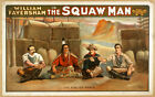 Photo Print Vintage Poster: Stage Theatre Flyer The Sqaw Man 02