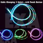 LED Light flowing Visible USB Charger Charging Cable Cord For iPhone 8 7 6 5 X