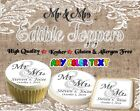 Wedding Mr and Mrs edible cookie toppers Monogram images pic