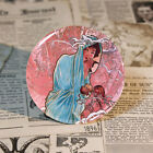 Painting by Alphonse Mucha Pin Badge Art Button 58mm Tin Badge The Seasons 1 - 4