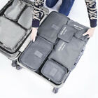 Lot 6Pcs Waterproof Travel Clothes Storage Bags Luggage Organizer Pouch Packing