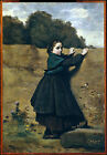 Art Photo Print - Corot Curious Little Girl - Jean Baptiste Camille Corot 1796 1