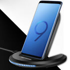 Qi Wireless Charger 10W Fast Charging Stand Dock For iPhone XS XR Samsung S9 S8+