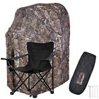 Portable Hunting Ground Blind Tent Real Tree Camo Hunt Archery Turkey Deer DuckBlind & Tree Stand Accessories - 177912