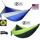 Two Person Double Camping Hammock Tent Outdoor Parachute Travel Hanging Bed