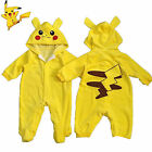 Pokemon Pikachu Newborn Outfit Set Boys Girls Romper Playsuit Baby Clothes 0-24M