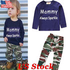 2pcs Sets Toddler Kids T-shirts+Pants Camouflage Baby Boys Clothes Outfits